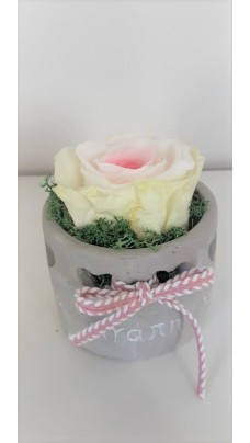 Ceramic Pot With Flower Forever (D0008)