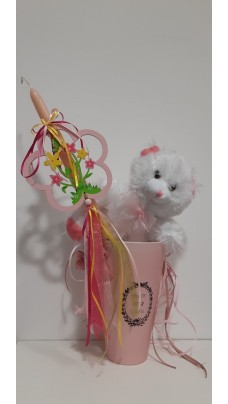 Easter Candle Pink (EC0007)