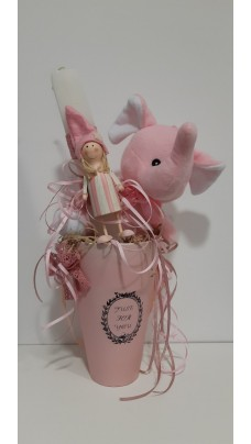 Easter Candle With Doll (EC0011)