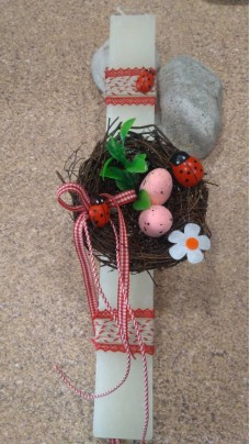 Easter Candle Nest